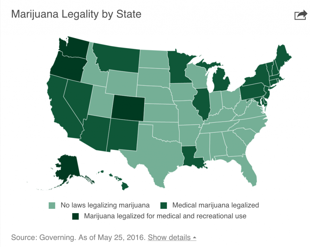 Marijuana Legality Map