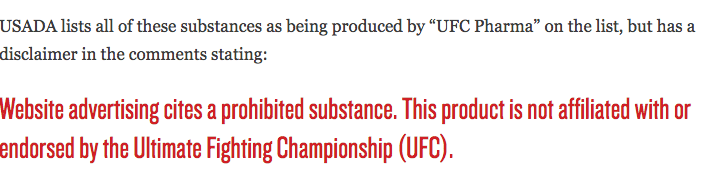 UFC Pharma Products
